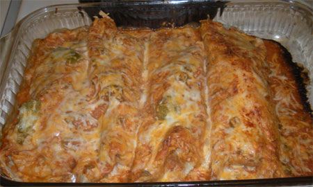 Mock Chicken Enchiladas